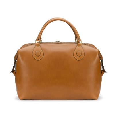 Tusting Explorer Leather Holdall in Tan Leather